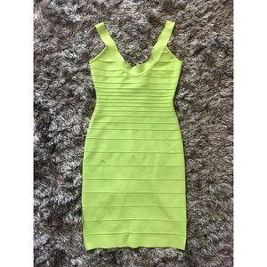 Herve Leger Lime Dress